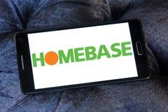 Logo del rivenditore di Homebase Immagini Stock Libere da Diritti