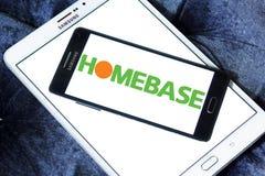 Logo del rivenditore di Homebase Immagine Stock