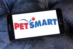 Logo del rivenditore di PetSmart Fotografia Stock Libera da Diritti