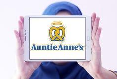Logo del ` s di Auntie Anne Immagine Stock