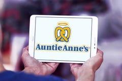 Logo del ` s di Auntie Anne Fotografia Stock Libera da Diritti