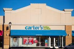 Logo del ` s di Carter alla parte anteriore del deposito al centro commerciale dello sbocco Immagine Stock Libera da Diritti
