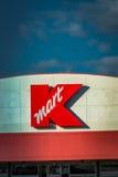 Logo del segno della vendita al dettaglio di Kmart Fotografia Stock Libera da Diritti