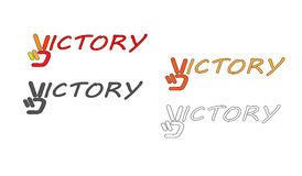 Logo del segno di vittoria royalty illustrazione gratis