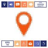 Logo del semitono del puntatore della mappa Immagine Stock Libera da Diritti