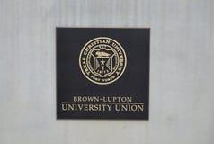 Logo del sindacato dell'università di Brown-Lupton Fotografie Stock Libere da Diritti