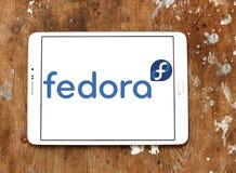 Logo del sistema operativo di Fedora fotografia stock