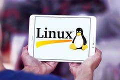 Logo del sistema operativo Linux fotografia stock