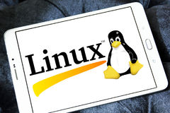 Logo del sistema operativo Linux fotografie stock
