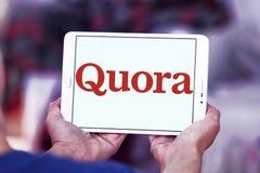 Logo del sito Web dei quorum Immagini Stock
