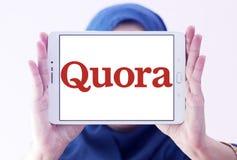Logo del sito Web dei quorum Fotografia Stock