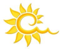 Logo del sole luminoso Immagini Stock Libere da Diritti
