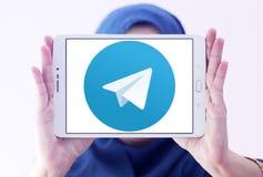 Logo del telegramma Immagini Stock