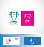 Logo del trofeo della tazza di sport del vincitore Fotografia Stock