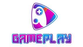 Logo del video gioco di Gameplay ENV illustrazione di stock