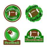 Logo del vincitore di sfida di football americano, etichetta, distintivo Immagine Stock Libera da Diritti