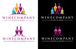 Logo del vino Immagine Stock Libera da Diritti