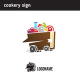 Logo for the delivery of food according to recipes, recipe book Stock Photography