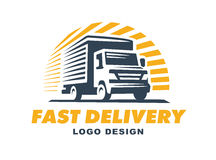 Logo delivery service concept. stock illustration