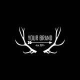 Logo dell'abito, marca Logo Vector Design dell'abbigliamento Immagini Stock