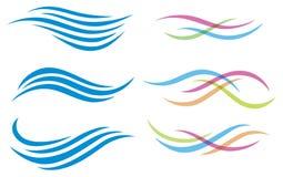 Logo dell'acqua Fotografia Stock Libera da Diritti