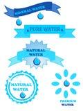 Logo dell'acqua Fotografie Stock