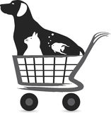 Logo dell'acquisto dell'animale domestico Fotografia Stock