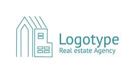 Logo dell'agenzia immobiliare Fotografia Stock Libera da Diritti