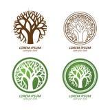 Logo dell'albero Fotografia Stock