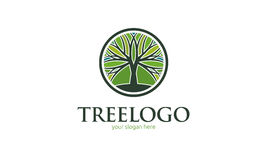 Logo dell'albero immagini stock