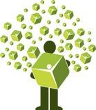 Logo dell'albero del pacchetto fotografia stock libera da diritti