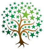 Logo dell'albero della stella royalty illustrazione gratis