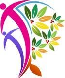 Logo dell'albero delle coppie Fotografie Stock Libere da Diritti