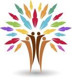 Logo dell'albero delle coppie Immagine Stock Libera da Diritti
