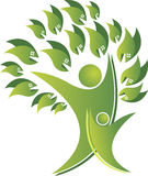 Logo dell'albero delle coppie Fotografie Stock