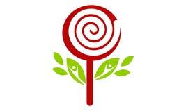 Logo dell'albero di Candy Immagine Stock