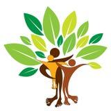 Logo dell'albero genealogico Immagine Stock Libera da Diritti