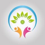 Logo dell'albero genealogico Fotografia Stock Libera da Diritti