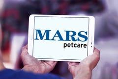 Logo dell'alimento per animali domestici del petcare di Marte Fotografie Stock