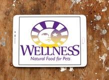 Logo dell'alimento per animali domestici di benessere Immagine Stock