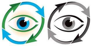 Logo dell'ambiente dell'occhio Fotografie Stock