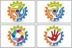 Logo dell'amico della fabbrica Fotografia Stock