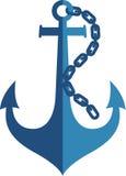 Logo dell'ancora Fotografie Stock