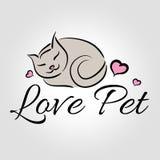 Logo dell'animale domestico di amore Fotografia Stock Libera da Diritti