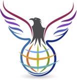 Logo dell'aquila di Globel Fotografia Stock