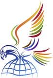 Logo dell'aquila di Globel Fotografie Stock Libere da Diritti
