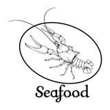 Logo dell'aragosta Fotografie Stock