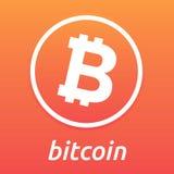 Logo dell'arancia di Bitcoin Immagini Stock