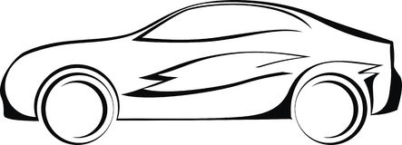 Logo dell'automobile Fotografia Stock Libera da Diritti