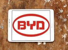 Logo dell'automobile di Byd Fotografia Stock Libera da Diritti